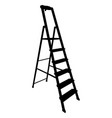black silhouette tool staircase on a white vector image vector image
