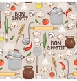 Bon Appetit seamless background pattern vector image
