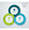Business pie chart for documents and reports for vector image