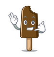 call me chocolate ice cream mascot cartoon vector image vector image
