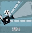 colorful poster of cinema time with film in vector image vector image