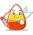 cupid candy corn character cartoon vector image vector image