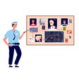 detective board crime investigation plan with vector image vector image