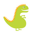 dinosaur cute cartoon funny dino bacharacter vector image