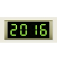 Electronic scoreboard with the number 2016 vector image vector image