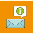 email receiving message bubble chat design vector image vector image