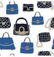 fashion bags and clutch seamless pattern vector image vector image
