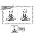find 9 differences game black doctor vector image vector image