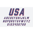 Font usa flag stars and stripes