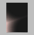 geometrical halftone dot background pattern page vector image vector image
