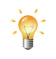 glowing light bulb isolated cartoon design vector image
