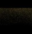 gold glitter texture on black background golden vector image vector image
