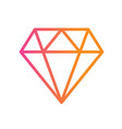 gradient orange to pink flat diamond icon vector image vector image