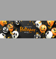 halloween sale promotion poster with scary vector image
