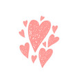 hand drawn hearts vector image vector image