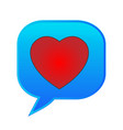 heart speech bubble text emoticon symbol vector image
