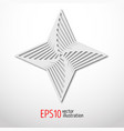 hexagonal star paper 3d design sacral geometry vector image vector image