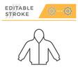 hoodie editable stroke line icon vector image