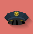 Icon of Police hat cop hat Flat style vector image vector image