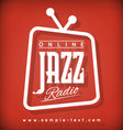 Jazz Radio vector image vector image