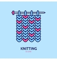 Knitting is love Modern line icon of vector image vector image