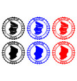 made in chad rubber stamp vector image vector image
