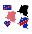 map of Congo vector image