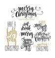 Merry Christmas Lettering Design Set