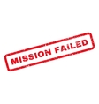 Mission Failed Rubber Stamp vector image vector image