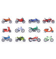 motorcycles and scooters motorbike speed bikes vector image vector image