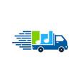 music delivery logo icon design vector image
