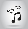 music icon sound note business simple flat vector image
