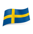 National flag of sweden yellow cross on blue