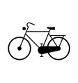old bicycle silhouette vector image vector image
