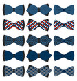 on theme big set ties different types bowties vector image vector image