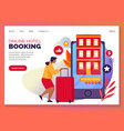 online hotel booking or apartments web reservation vector image