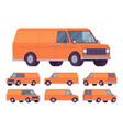 orange van set vector image vector image