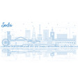 outline sochi russia city skyline with blue vector image vector image