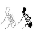 philippines map vector image