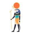 ra - god of sun creator deity or mythological vector image vector image