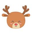 reindeer head horns decoration merry christmas vector image vector image