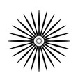 retro sun burst shape vintage logo label badge vector image