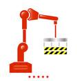robotic hand manipulator icon flat style vector image vector image