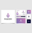 rocket pencil logo design premium vector image