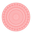round gradient mandala on white isolated vector image vector image