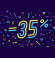 sale -35 percent banner for discount sale vector image vector image