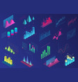 set vivid colorful infographic elements for ui vector image