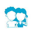 silhouette couple lover together with hairstyle vector image vector image