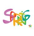 spring font vector image