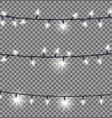 strings glowing christmas lights vector image vector image